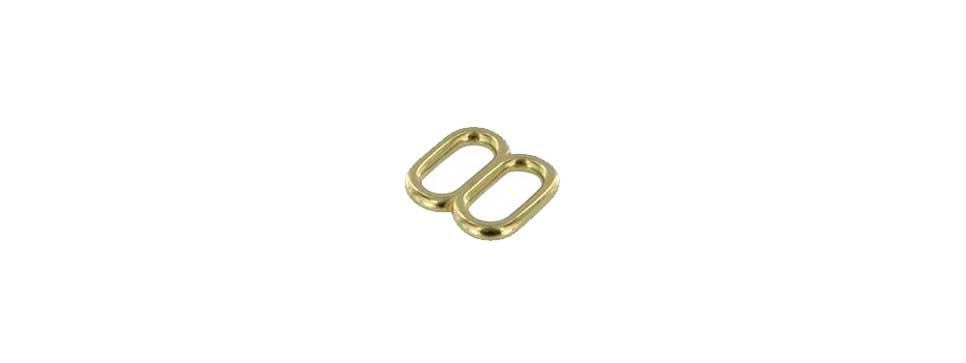 Brass Double Loop Wrist Strap Adjuster