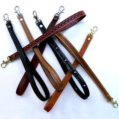 "1/2"" Deluxe Leather Embossed Wrist Straps"